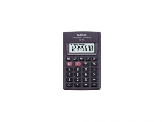 Калькулятор Сasio HL-4AS-ЕН питание от батареи 8 разряда большой дисплей черный smooza черный большой