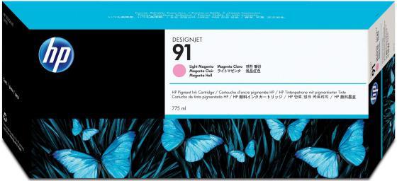 Картридж HP C9471A №91 для HP DJ Z6100 светло-пурпурный картридж hp pigment ink cartridge 70 black z2100 3100 3200 c9449a