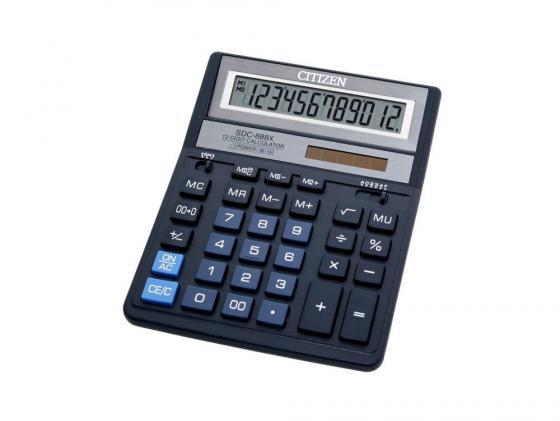 Калькулятор Citizen SDC-888XBL двойное питание 12 разряда бухгалтерский синий платье madam t madam t ma422ewwzb30