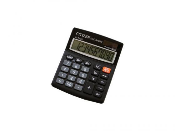 Калькулятор Citizen SDC-810BN 10 разряда бухгалтерский черный citizen ca4250 03e