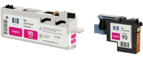 Печатающая головка + чистящая головка HP C5056A №90 для Designjet 4000 4000ps 4500 4500ps пурпурный печатающая головка чистящая головка hp c5057a 90 для designjet 4000 4000ps 4500 4500ps желтый