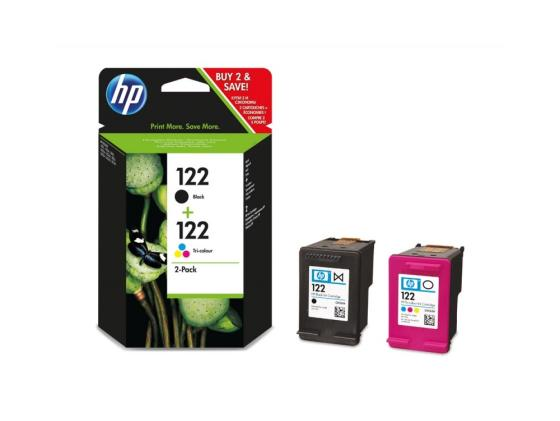 Картридж HP CR340HE (CH561HE + CH562HE) №122 для HP DJ 1050 2050 цветной + черный for hp 122 black ink cartridge for hp 122 xl deskjet 1000 1050 2000 2050 3000 3050a 3052a printer