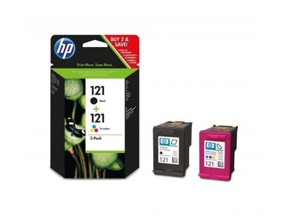 цена на Картридж HP CN637HE №121 CC640HE + CC643HE для HP DJ D2563 D2663 черный + цветной