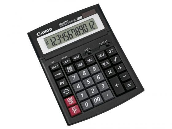 Калькулятор Canon WS-1210T 12 разряда настольный регулируемый наклон дисплея черный canon ws 1410t