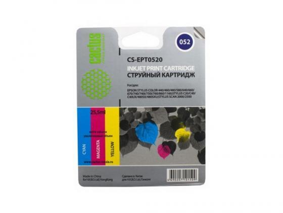 Картридж Cactus CS-EPT0520 для Epson Stylus Color 400 440 460 600 640 цветной