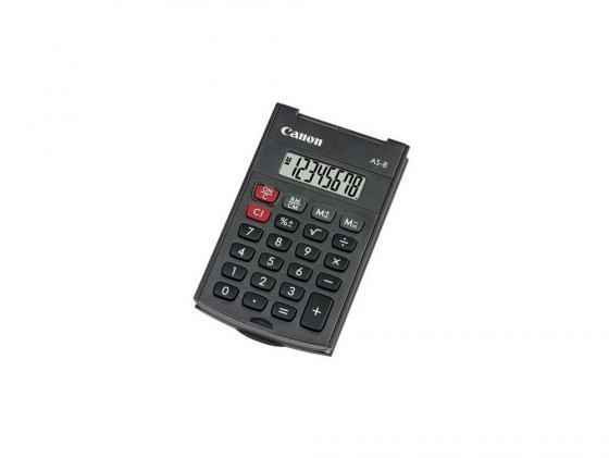 Калькулятор Canon AS-8 8 разряда черный