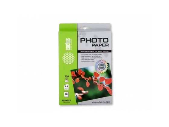 Фото - Бумага Cactus CS-GA523050 A5 230г/кв.м глянцевая 50л бумага cactus cs ga620050 10x15см 200г кв м глянцевая 50л