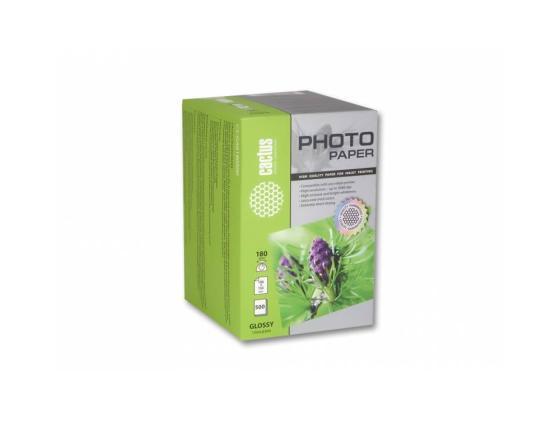 Фото - Бумага Cactus CS-GA6180500 10x15см 180г/кв.м глянцевая 500л бумага cactus cs ga620050 10x15см 200г кв м глянцевая 50л