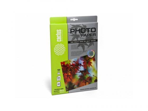 Бумага Cactus CS-GMA418020 А4 180г/кв.м глянцевая/матовая двухсторонняя 20л