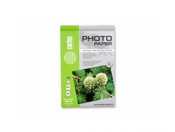 Фото - Бумага Cactus CS-MA317050DS А3 170г/кв.м матовая двухсторонняя 50л бумага cactus cs ma423050 a4 230г кв м матовая 50л