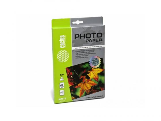 Бумага Cactus CS-MA517050 А5 170г/кв.м матовая 50л цена