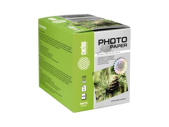 Бумага Cactus CS-MA6230500 10x15см 230г/кв.м матовая 500л
