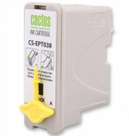 Картридж Cactus CS-EPT038 для Epson Stylus C43 черный 360стр cactus cs ept038 black картридж струйный для epson stylus c43 series c45 series