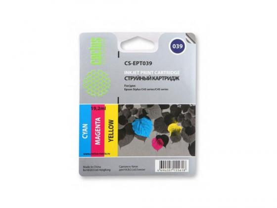 Картридж Cactus CS-EPT039 для Epson Stylus C43 цветной 550стр