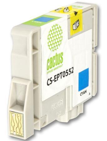 Картридж Cactus CS-EPT0552 для Epson Stylus RX520 R240 голубой 300стр струйный картридж cactus cs ept0554 желтый для epson stylus rx520 r240 350стр
