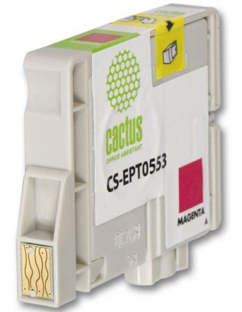 Фото - Картридж Cactus CS-EPT0553 для Epson Stylus RX520 R240 пурпурный 300стр картридж cactus cs ept0554 для epson stylus rx520 r240 желтый 350стр