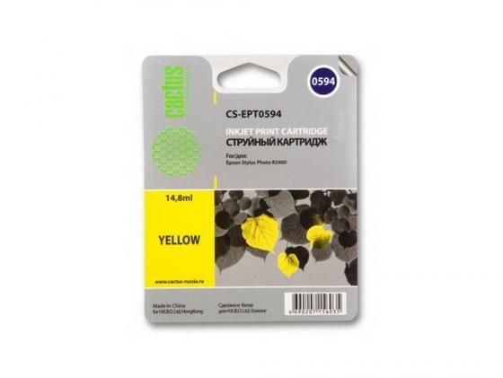 Картридж Cactus CS-EPT0594 для Epson Stylus Photo R2400 желтый 560стр картридж cactus cs ept1634 для epson wf 2010 2510 2520 2530 2540 2630 2650 2660 желтый