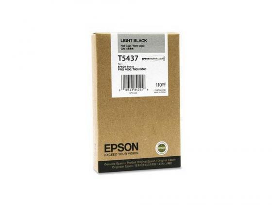 Картридж Epson C13T543700 для Epson Stylus Pro 7600/9600 серый картридж epson c13t543400 для epson stylus pro 7600 9600 желтый