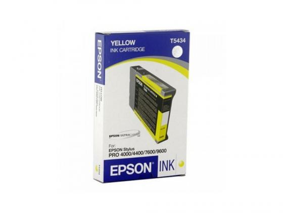 Картридж Epson C13T543400 для Epson Stylus Pro 7600/9600 желтый картридж epson t009402 для epson st photo 900 1270 1290 color 2 pack