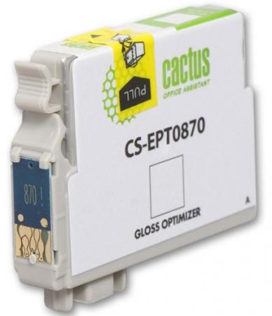 Картридж Cactus CS-EPT0870 для Epson Stylus Photo R1900 глянцевый 3620стр cactus cs ept0870 gloss optimizer