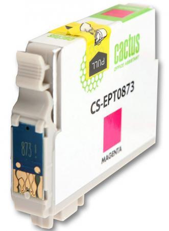 Картридж Cactus CS-EPT0873 для Epson Stylus Photo R1900 пурпурный 900стр картридж cactus cs ept0874 для epson stylus photo r1900 желтый