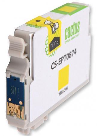 Картридж Cactus CS-EPT0874 для Epson Stylus Photo R1900 желтый 1170стр картридж cactus cs ept1634 для epson wf 2010 2510 2520 2530 2540 2630 2650 2660 желтый