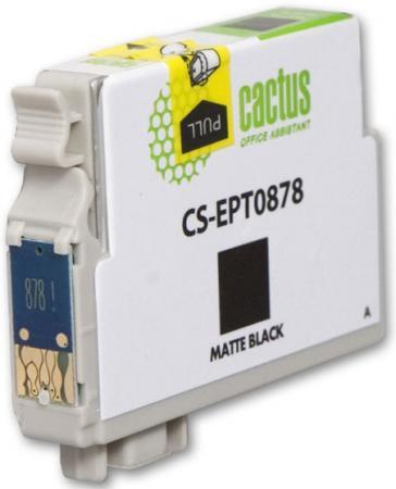 Картридж Cactus CS-EPT0878 для Epson Stylus Photo R1900 матово-черный 530стр картридж cactus cs ept0874 для epson stylus photo r1900 желтый