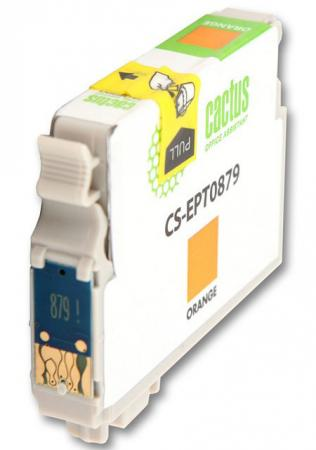 Картридж Cactus CS-EPT0879 для Epson Stylus Photo R1900 оранжевый 1220стр картридж cactus cs ept0874 для epson stylus photo r1900 желтый