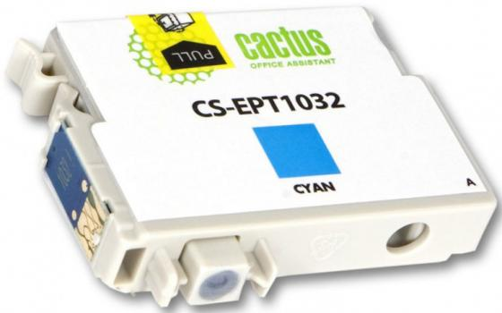 цена на Картридж Cactus CS-EPT1032 для Epson Stylus Office T1100 TX510 TX510fn TX550 TX550w голубой 820стр