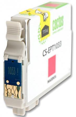 цена на Картридж Cactus CS-EPT1033 для Epson Stylus Office T1100 TX510 TX510fn TX550 TX550w пурпурный 820стр