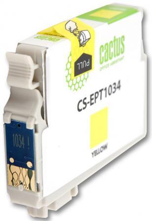 Картридж Cactus CS-EPT1034 для Epson Stylus Office T1100 TX510 TX510fn TX550 TX550w желтый 820стр картридж cactus cs ept1634 для epson wf 2010 2510 2520 2530 2540 2630 2650 2660 желтый