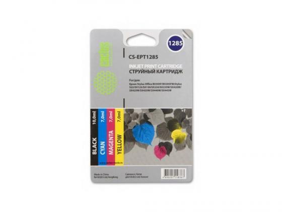 Фото - Картридж Cactus CS-EPT1285 для Epson Stylus S225 BX305 цветной 215стр 4шт картридж cactus cs ept1292 для epson stylus office b42 bx305 bx305f 100 мл голубой