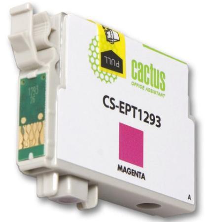 Картридж Cactus CS-EPT1293 для Epson Stylus Office B42 BX305 BX305F BX320 пурпурный 390стр картридж cactus cs ept1634 для epson wf 2010 2510 2520 2530 2540 2630 2650 2660 желтый