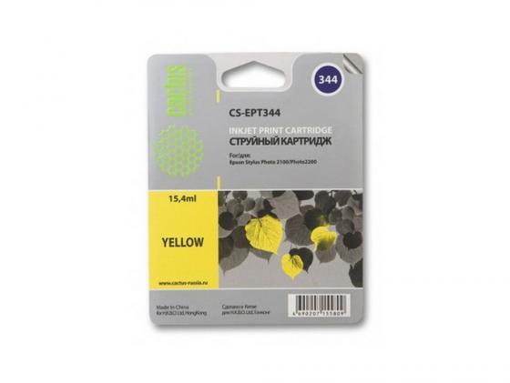 цена на Картридж Cactus CS-EPT344 для Epson Stylus Photo 2100 желтый 440стр
