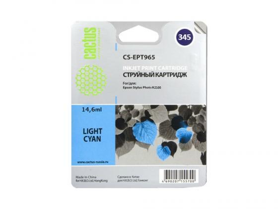 Картридж Cactus CS-EPT345 для Epson Stylus Photo 2100 светло-голубой 440стр картридж epson t009402 для epson st photo 900 1270 1290 color 2 pack