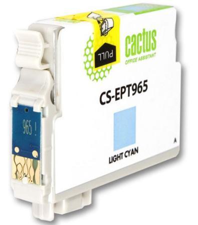 Картридж Cactus CS-EPT965 для Epson Stylus Photo R2880 светло-голубой все цены