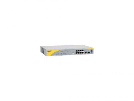 Коммутатор Allied Telesis AT-8000/8POE-50 управляемый 8 портов 10/100/1000Mbps SFP Combo коммутатор allied telesis at 8000gs 24poe layer 2 24 порта 10 100 1000mbps 4xsfp poe