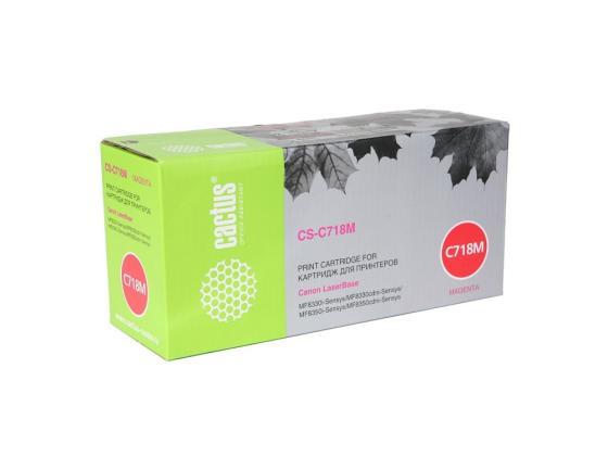 Фото - Картридж Cactus CS-C718M для Canon LBP-7200 пурпурный 2900стр сумка для видеокамеры 100% dslr canon nikon sony pentax slr