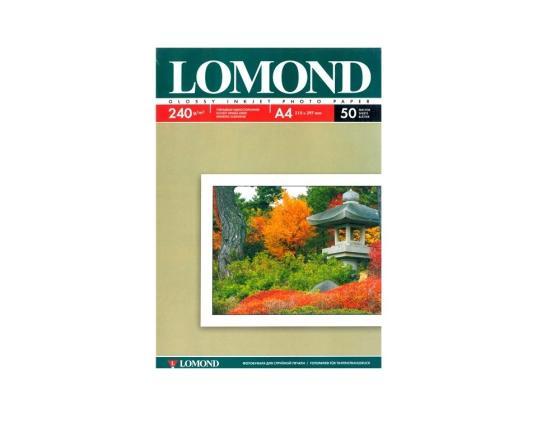 Фото - Фотобумага Lomond А4 240г/м2 глянцевая 50л 102135 фотобумага hp а4 180г м2 50л глянцевая c6818a