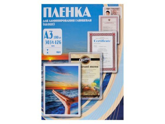 Пленка для ламинирования Office Kit А3 60мик 100шт 303х426 глянцевая PLP10025 office kit s240 3 9х25