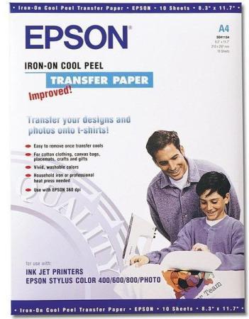 Фотобумага Epson A4 124г/м2 термопереводная 10л C13S041154 vilaxh for epson 1410 pickup roller for epson 1390 1410 1430 1400 t1100 b1100 l1300 1900 1800 me1100 r1800 2000 printer