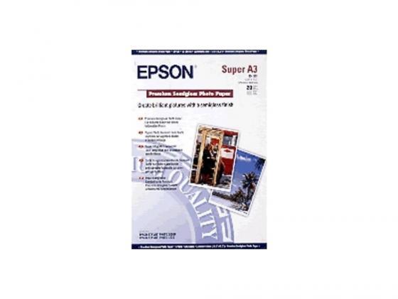 Фотобумага Epson A3+ 251г/м2 полуглянцевая 20л C13S041328 фотобумага epson s041287
