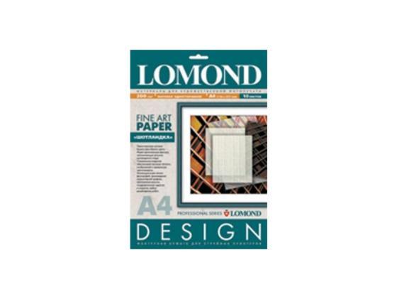Фотобумага Lomond A4 200г/м2 10л Textile Design матовая 919041 фотобумага lomond а5 230г м2 матовая 50 листов 0102069