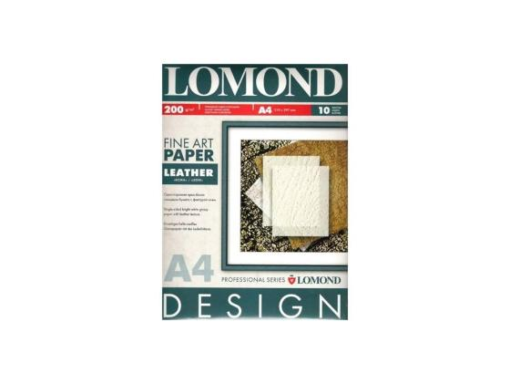 Фотобумага Lomond A4 200г/м2 10л Ткань глянцевая 920041 бумага lomond a4 200г м2 глянцевая двухсторонняя 250л 0310341