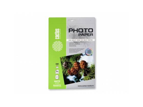 Фото - Фотобумага Cactus CS-MMA46902 А4 690г/м2 2л с магнитным слоем матовая фотобумага
