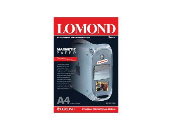 Фото - Фотобумага Lomond A4 620г/м2 матовая с магнитным слоем 2л 2020346 фотобумага lomond 914x12 3x76 290г м2 матовая 1211133