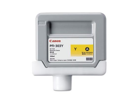 Картридж Canon PFI-303 Y для iPF815 825 желтый картридж canon pfi 303 mbk для ipf815 825 черный матовый