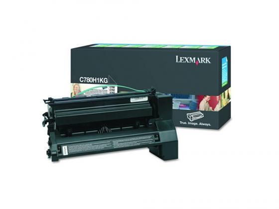 Картридж Lexmark C780H1KG для C780/C782 черный 10000стр картридж lexmark 70c8hke для lexmark cs510 cs410 cs310 черный 4000стр