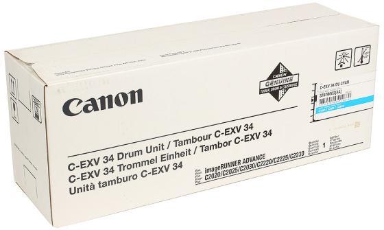 Фотобарабан Canon C-EXV34C для iRC2020L/2030L голубой оперативная память dimm ddr3 hynix 2gb pc 12800 1600mhz