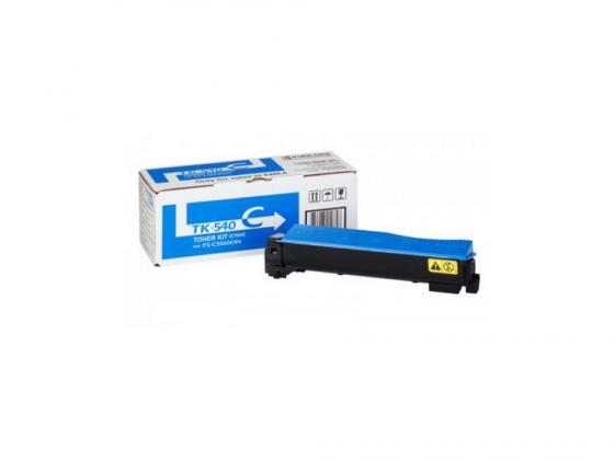Картридж Kyocera TK-540C для FS C5100DN голубой 4000стр profiline pl tk 140 для kyocera fs 1100 1100n 4000стр